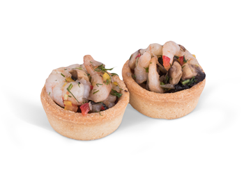 Picture of Shrimps & Mushroom Tartlet