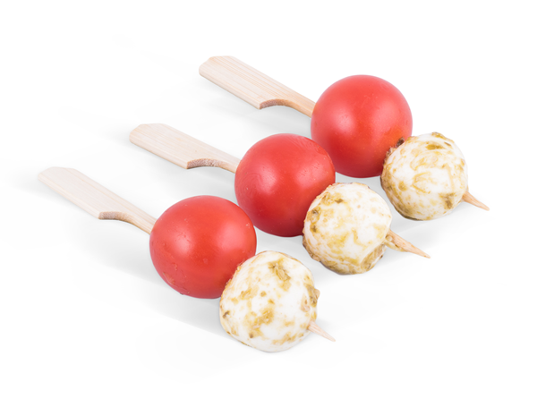 Picture of Tomato & Mozzarella skewers will Basil Dressing