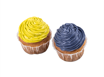 Picture of Cupcake with coloured buttercream