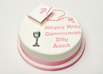 Picture of Holy Communion Cake with bible