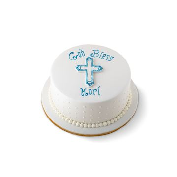 Picture of Holy communion cake with cross