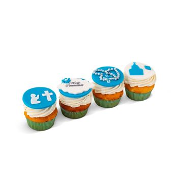 Picture of Holy communion cupcakes (blue)